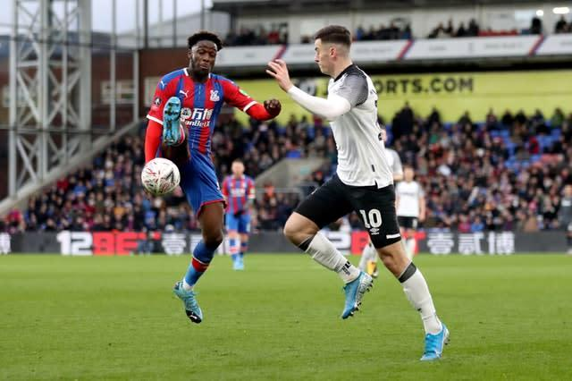 Brandon Pierrick, left, made his full debut for Palace (Bradley Collyer/PA)