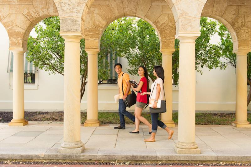 Students walking on campus (Photo: Jacobs Stock Photography Ltd via Getty Images)