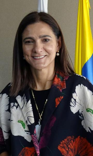 Colombian Minister of Transport Angela Maria Orozco poses for a photo before an interview with Reuters in Bogota