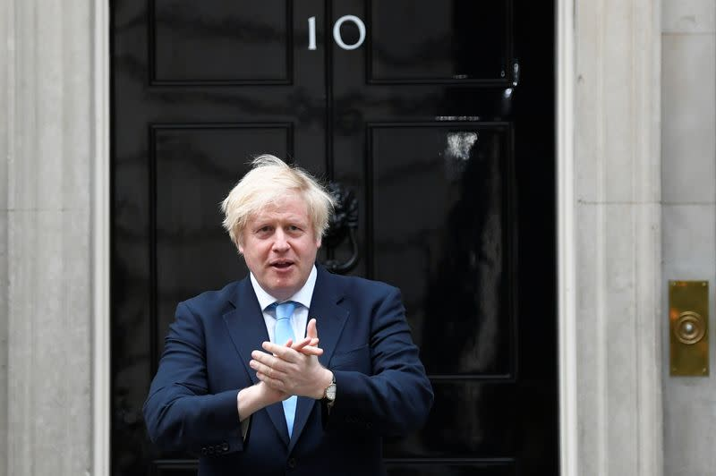 UK PM Johnson to update the public on coronavirus