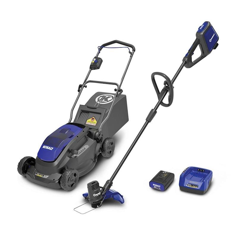 Kobalt 40-Volt MAX* Lithium-Ion Cordless Lawn Mower and String Trimmer Combo Kit