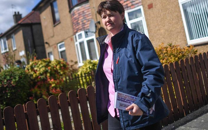 Ruth Davidson on the campaign in trail as the countdown to Scotland's election gathers pace - Peter Summers/Getty Images Europe