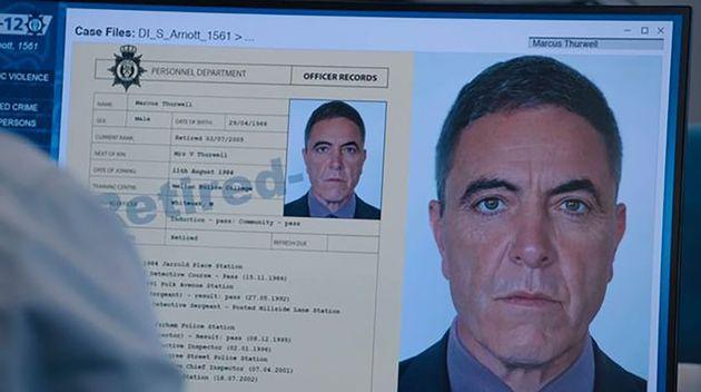 James Nestbitt only appeared in photographs as Marcus Thurwell (Photo: BBC)