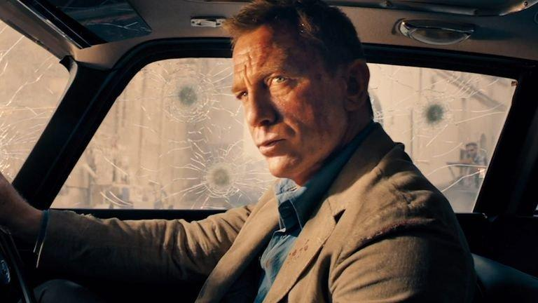 Daniel Craig in his final James Bond movie No Time To Die