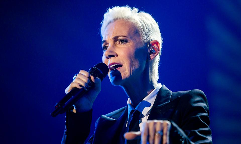 """Marie Fredriksson <a href=""""https://uk.news.yahoo.com/marie-fredriksson-dead-roxette-singer-141907590.html"""" data-ylk=""""slk:died on 9 December;outcm:mb_qualified_link;_E:mb_qualified_link;ct:story;"""" class=""""link rapid-noclick-resp yahoo-link"""">died on 9 December </a>at the age of 61, 17 years after initially being diagnosed with cancer. The Swedish star was lead singer for Roxette, who achieved global fame in the 80s with hits like <em>'The Look'</em> and <em>'It Must Have Been Love'</em>. Her bandmate Per Gessle paid tribute to her, saying: """"Things will never be the same."""" (Balazs Mohai/MTI, via AP)"""