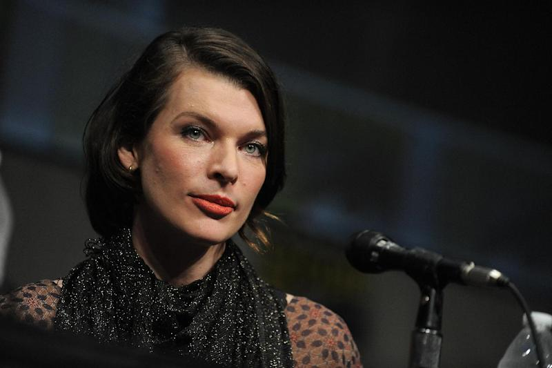 """CORRECTS DATE TO FRIDAY JULY 13 - Milla Jovovich attends the """"Resident Evil: Retribution"""" panel at Comic-Con on Friday, July 13, 2012 in San Diego, Calif. (Photo by Jordan Straus/Invision/AP)"""