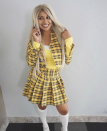 """<p>As if there was a better costume than this for any 90s-loving lady. </p><p><a class=""""link rapid-noclick-resp"""" href=""""https://andiesparkles.com/yellow-plaid-skirt-diy-clueless-outfit/"""" rel=""""nofollow noopener"""" target=""""_blank"""" data-ylk=""""slk:SEE MORE"""">SEE MORE</a></p><p><a class=""""link rapid-noclick-resp"""" href=""""https://www.amazon.com/WDIRARA-Womens-Casual-Elastic-Pleated/dp/B07WR6LGK1?tag=syn-yahoo-20&ascsubtag=%5Bartid%7C10072.g.33547559%5Bsrc%7Cyahoo-us"""" rel=""""nofollow noopener"""" target=""""_blank"""" data-ylk=""""slk:SHOP SKIRT"""">SHOP SKIRT</a></p>"""