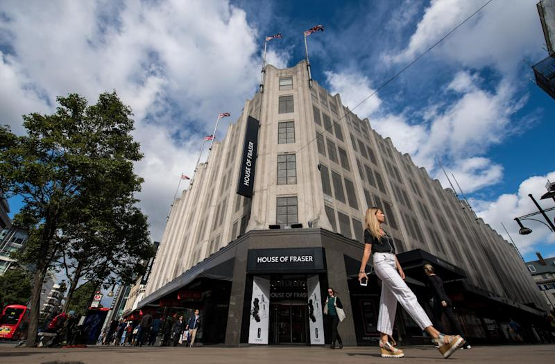 House of Fraser on Oxford Street has been spared closure: Getty Images