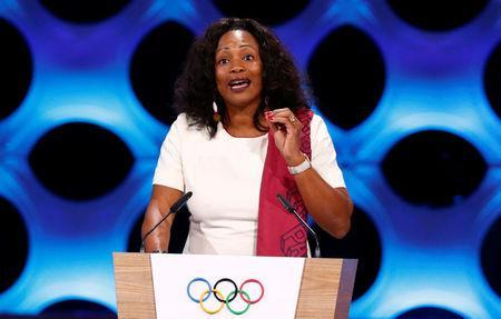 France Minister of Sport Laura Flessel gives a speech at the presentation of Paris 2024 at the 131st IOC session in Lima, Peru September 13, 2017. REUTERS/Mariana Bazo
