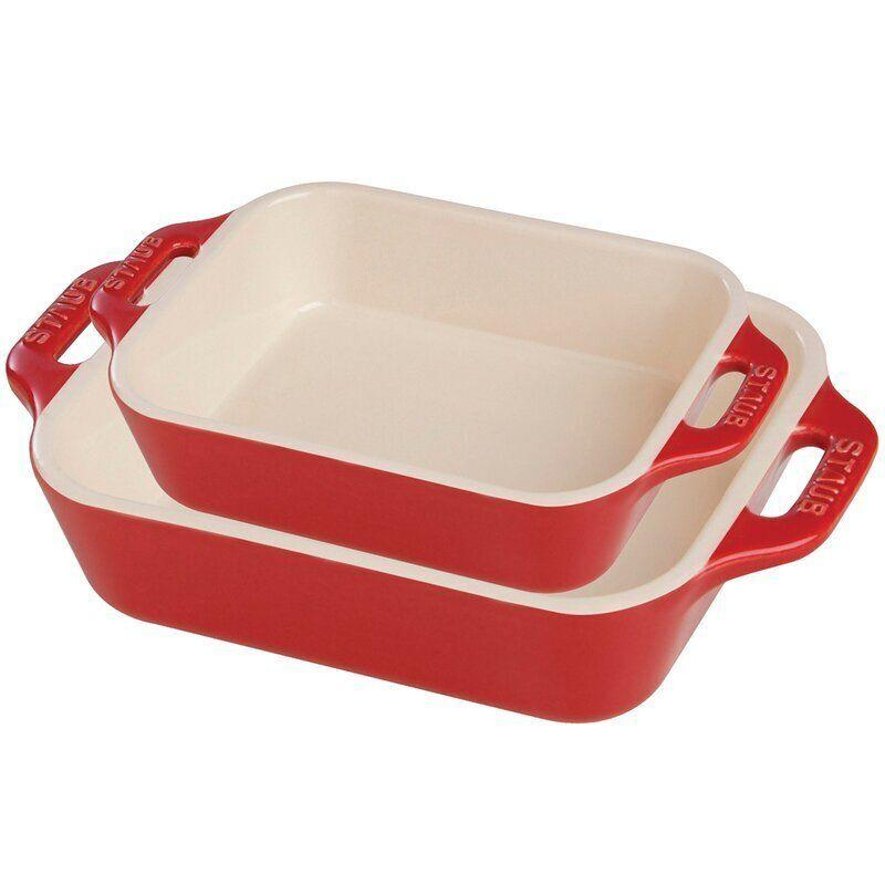 "Get two baking dishes for the price of one with this set that includes dishes in different sizes. You can use them for all sorts of casseroles and desserts. These are meant to keep heat in without the moisture. <a href=""https://fave.co/36U5DZg"" target=""_blank"" rel=""noopener noreferrer"">Originally $120, get the set now for $50 at Wayfair</a>."