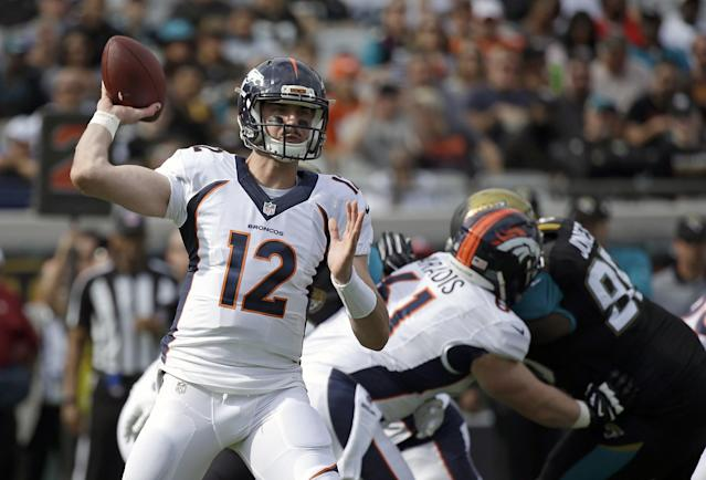 Paxton Lynch believes he'll have every opportunity to win the Denver Broncos' starting quarterback job. (AP)