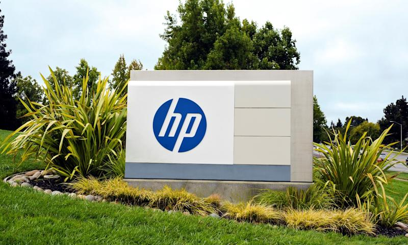 HP's sign at its campus.