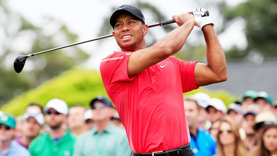 Tiger Woods, pictured here in action at the Masters in 2015.