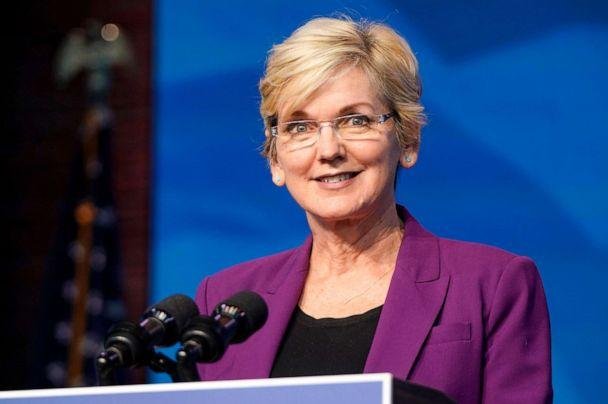 PHOTO: Jennifer Granholm, speaks at the Queen theater in Wilmington, Del., Dec. 19, 2020. (Joshua Roberts/Getty Images, FILE)