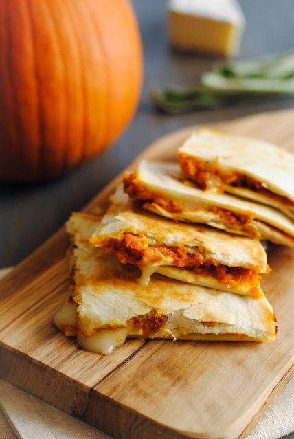 """<p>This flaky, cheese-stuffed creation is a quesadilla you've never seen. We can't help ourselves—we want every last melty bite. </p><p><strong>Get the recipe at <a href=""""http://foxeslovelemons.com/pumpkin-brie-quesadillas/"""" rel=""""nofollow noopener"""" target=""""_blank"""" data-ylk=""""slk:Foxes Love Lemons"""" class=""""link rapid-noclick-resp"""">Foxes Love Lemons</a>.</strong></p>"""