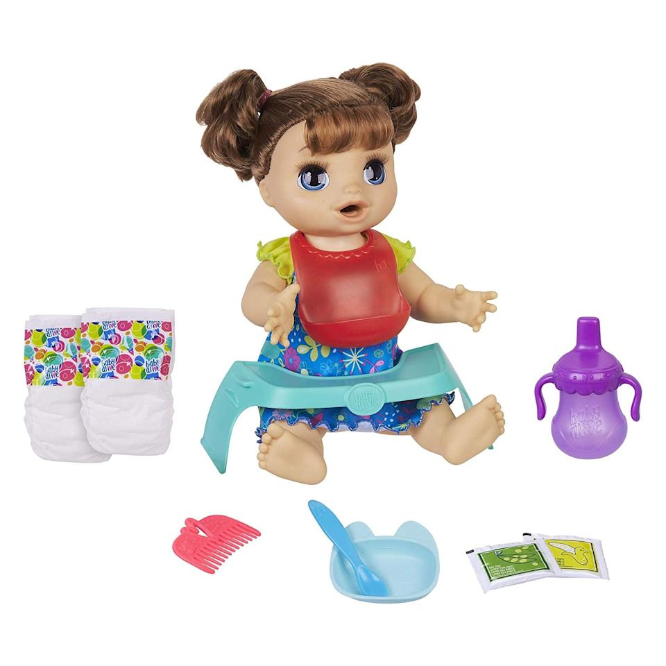 "<p><a href=""https://www.popsugar.com/buy/Baby-Alive-Happy-Hungry-Baby-Brown-Straight-Hair-Doll-488350?p_name=Baby%20Alive%20Happy%20Hungry%20Baby%20Brown%20Straight%20Hair%20Doll&retailer=amazon.com&pid=488350&price=49&evar1=moms%3Aus&evar9=46581978&evar98=https%3A%2F%2Fwww.popsugar.com%2Ffamily%2Fphoto-gallery%2F46581978%2Fimage%2F46585253%2FBaby-Alive-Happy-Hungry-Baby-Brown-Straight-Hair-Doll&list1=amazon%2Ctoys%2Cgift%20guide%2Ckids%20toys%2Cgifts%20for%20toddlers&prop13=api&pdata=1"" rel=""nofollow"" data-shoppable-link=""1"" target=""_blank"" class=""ga-track"" data-ga-category=""Related"" data-ga-label=""https://www.amazon.com/dp/B07MC8T5JC/ref=cm_gf_aht_iaaa_d_p0_c0_qd1__________________a79JCBtYyX8qGLIYoADG"" data-ga-action=""In-Line Links"">Baby Alive Happy Hungry Baby Brown Straight Hair Doll</a> ($49)</p>"