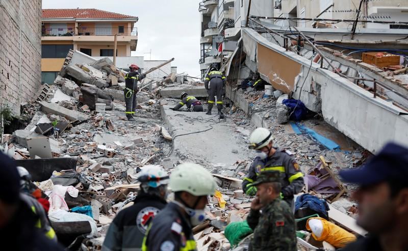 Rescuers find dead mother and three children in Albanian house as quake toll hits 46