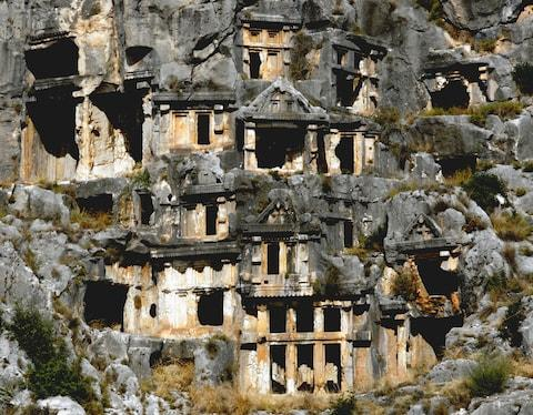 Rock-hewn tombs - Credit: GETTY
