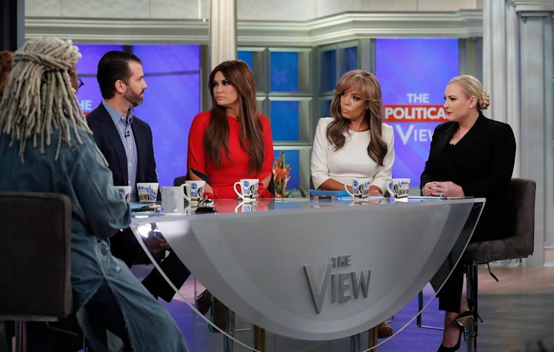 Meghan McCain and Donald Trump Jr. on The View | Lou Rocco/ABC via Getty