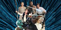 """<p>It actually took <a href=""""https://www.sciencealert.com/data-scientists-map-every-important-character-in-the-star-wars-universe"""" rel=""""nofollow noopener"""" target=""""_blank"""" data-ylk=""""slk:a team of scientists to calculate"""" class=""""link rapid-noclick-resp"""">a team of scientists to calculate</a> how many characters there are <a href=""""https://www.esquire.com/entertainment/movies/g19457800/all-star-wars-movies-ranked/"""" rel=""""nofollow noopener"""" target=""""_blank"""" data-ylk=""""slk:in all of Star Wars"""" class=""""link rapid-noclick-resp"""">in all of Star Wars</a>. The answer: 21,647. But that was as of 2016, so there are probably at least 1,000 more today. And over more than four decades we've grown to love or hate them all. We grew up with them. We cried over their deaths. Laughed at their jokes. <a href=""""https://www.esquire.com/entertainment/tv/a29869697/best-baby-yoda-memes-star-wars-mandalorian/"""" rel=""""nofollow noopener"""" target=""""_blank"""" data-ylk=""""slk:Turned them into memes"""" class=""""link rapid-noclick-resp"""">Turned them into memes</a>. Idolized them. Despised them. There's a Star Wars character for all of us, and they mean something different to every fan. But they're not all created equal. Here we rank the 40 best Star Wars characters throughout every live action film, TV show, comic, video game and more—from silly little trashcan droids to our iconic heroes and villains.</p>"""