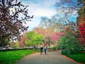"""<p>""""This park—which runs along the Hudson River from 79th to 129th streets—is never crowded, almost devoid of tourists, and perfect for a warm weather stroll. Don't miss the pretty community garden (which made a cameo in <em>You've Got Mail</em>) around the 91st street mark.""""—<em>Leena Kim, Assistant Editor</em></p>"""