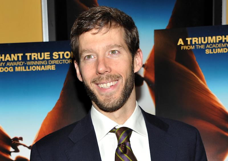 """FILE - In this Nov. 2, 2010 file photo, Aron Ralston, author and subject of the film """"127 Hours,"""" attends the film's premiere at Chelsea Clearview Cinema in New York. Authorities say Ralston, who gained widespread attention when he cut off his forearm to free himself after becoming trapped by a dislodged boulder in a Utah canyon, was arrested Sunday, Dec. 8, 2013 in Denver for domestic violence. (AP Photo/Evan Agostini, File)"""