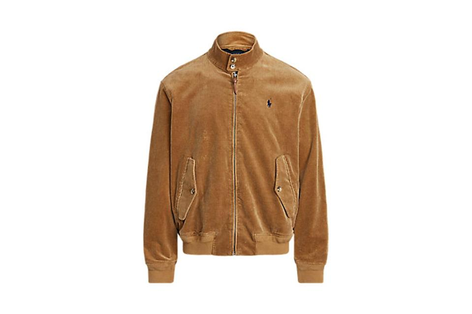 "$268, Ralph Lauren. <a href=""https://www.ralphlauren.com/men-clothing-shop-new-arrivals-cg/stretch-corduroy-jacket/544407.html?dwvar544407_colorname=Rustic%20Tan&cgid=men-clothing-shop-new-arrivals-cg&webcat=Men%2FWhat%20s%20New%2FNew%20Arrivals#webcat=men%257Cfeature%257CNew%2520Arrivals&start=1&cgid=men-clothing-shop-new-arrivals-cg"" rel=""nofollow noopener"" target=""_blank"" data-ylk=""slk:Get it now!"" class=""link rapid-noclick-resp"">Get it now!</a>"