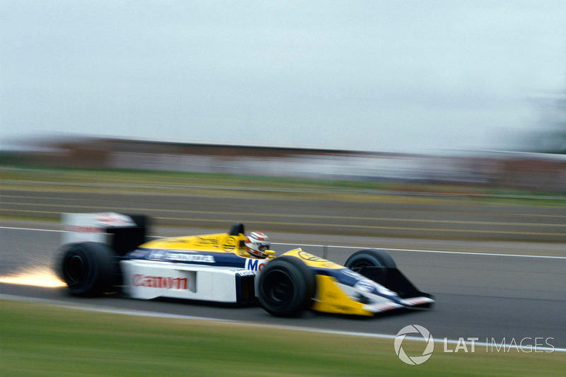 """22º Nelson Piquet, Williams FW11B, Silverstone 1987: Tiempo: 1:07.110<span class=""""copyright"""">LAT Images</span>"""