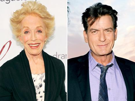 """Charlie Sheen's Ex-Costar Holland Taylor Blames His Past Issues on """"Madhouse"""" Childhood"""