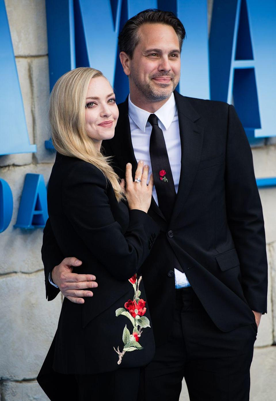 """<p><strong>How long they've been together: </strong>Although they fell in love on the set of <em>The Last Word </em>in 2016, Seyfried and Sadoski had previously worked together on Broadway while they were both in other relationships. """"[He] never flirted, never disrespected his wife. That was another reason why I thought, later on, that I could marry him,"""" Seyfried told <a href=""""https://www.net-a-porter.com/us/en/porter/article-92b730d7ec3ab146?cm_mmc=LinkshareUS-_-je6NUbpObpQ-_-Custom-_-LinkBuilder&siteID=je6NUbpObpQ-XtaNoNfqZvxprbxSs3OFqw&VigLink=VigLink&dclid=CjgKEAiAzanuBRCgyIvk8sKXwlQSJADylfoDANBkKum7W0DU5elkbOcCApqua76tMm9bWDX3_AwSEfD_BwE"""" rel=""""nofollow noopener"""" target=""""_blank"""" data-ylk=""""slk:Porter Magazine"""" class=""""link rapid-noclick-resp"""">Porter Magazine</a>. Now, married since 2017, the couple are parents to daughter Nina. </p><p><strong><strong>Why you forgot they're <strong>together</strong>:</strong> </strong>After some high-profile breakups, Seyfried and Sadoski prefer to keep their relationship as private as their wedding ceremony–which included a two-person ceremony, a Free People dress, and a reception at their neighborhood café. <strong><br></strong></p>"""