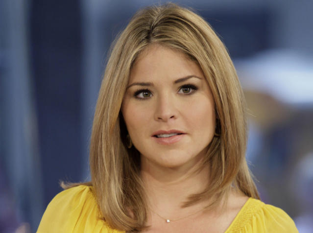 """FILE - In this Oct. 8, 2009 file photo, Jenna Bush Hager, special contributor for the NBC """"Today"""" television program, appears on the show in New York. Former first daughter Jenna Bush Hager announced Wednesday, Dec. 12, 2012, that she's pregnant with her first child, due in the spring. The 31-year-old made the announcement on NBC's """"Today"""" show, where she is a contributing correspondent. Hager, the twin daughter of former President George W. Bush, and her husband, Henry, have been married for four years. (AP Photo/Richard Drew)"""