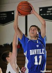 Danville basketball player Steven Soukup