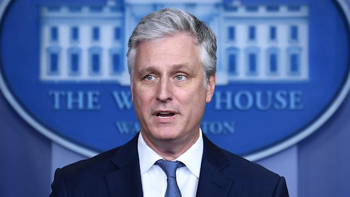 National Security Advisor Robert O'Brien speaks during a press briefing in the James S. Brady Press Briefing Room at the White House, in Washington, DC on August 13, 2020. (Brendan Smialowski/AFP via Getty Images)