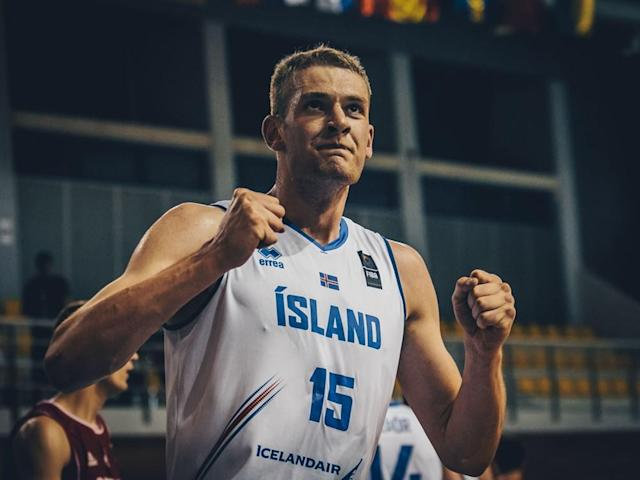 Tryggvi Hlinason hopes an NBA team drafts him in the second round on Thursday and stashes him in Spain to give him another year or two to develop. (photo via FIBA)