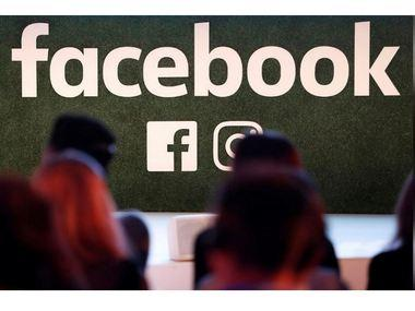 A Facebook logo is seen. Reuters.