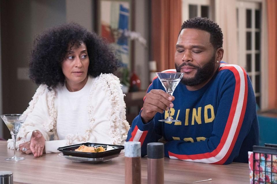 """<p>It's not often that you see a Black well-to-do family portrayed in such a positive light on network TV, but Kenya Barris's <em><a href=""""https://www.oprahdaily.com/entertainment/tv-movies/a25032962/black-ish-prince-tribute/"""" rel=""""nofollow noopener"""" target=""""_blank"""" data-ylk=""""slk:Black-ish"""" class=""""link rapid-noclick-resp"""">Black-ish</a> </em>is one shining example. <a href=""""https://www.oprahdaily.com/style/a25093553/tracee-ellis-ross-best-instagrams/"""" rel=""""nofollow noopener"""" target=""""_blank"""" data-ylk=""""slk:Tracee Ellis Ross"""" class=""""link rapid-noclick-resp"""">Tracee Ellis Ross</a> is comedic gold on the hit ABC series, and the show somehow manages to make audiences laugh while also tackling difficult subjects like divorce and police brutality. </p><p><a class=""""link rapid-noclick-resp"""" href=""""https://www.amazon.com/A-Look-Back-at-black-ish/dp/B07GMRDW3W/?tag=syn-yahoo-20&ascsubtag=%5Bartid%7C10063.g.37608731%5Bsrc%7Cyahoo-us"""" rel=""""nofollow noopener"""" target=""""_blank"""" data-ylk=""""slk:Watch Now"""">Watch Now</a></p>"""