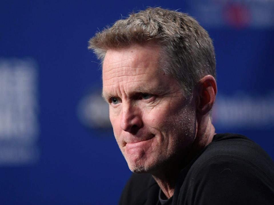 Before Game 2 of the NBA Finals on Sunday night, Warriors coach Steve Kerr again advocated for gun control and urged Americans to vote after the latest mass shooting in Virginia Beach last week.