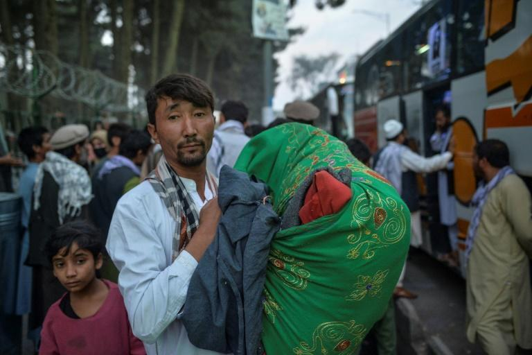 The Afghan economy is in ruins, with many losing their jobs, and a third of the population at risk of starvation according to the UN (AFP/Hoshang Hashimi)