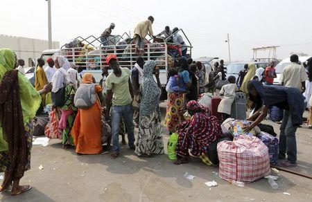 Image result for images of Nigerian refugees return from Cameroon