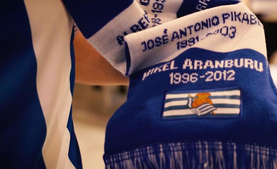 Real Sociedad want fans to be able to enter the stadium by using the scarf and not by using a traditional ticket or membership card.
