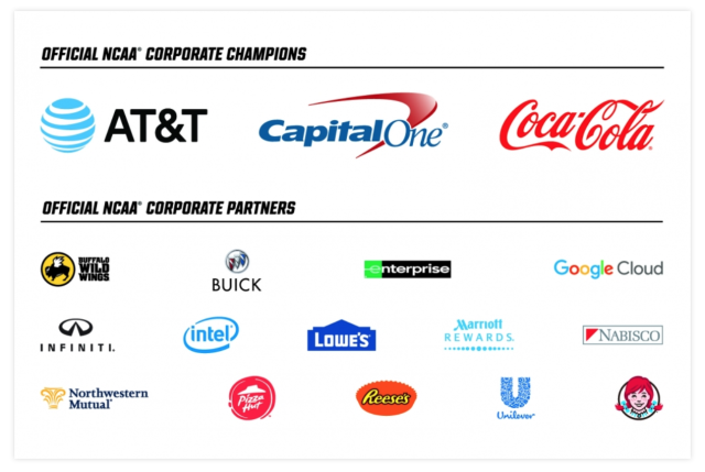 NCAA March Madness sponsors (NCAA.com)