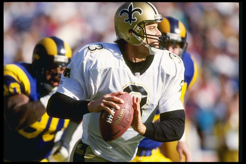 Bobby Hebert as a member of the New Orleans Saints in 1992. (Getty Images)