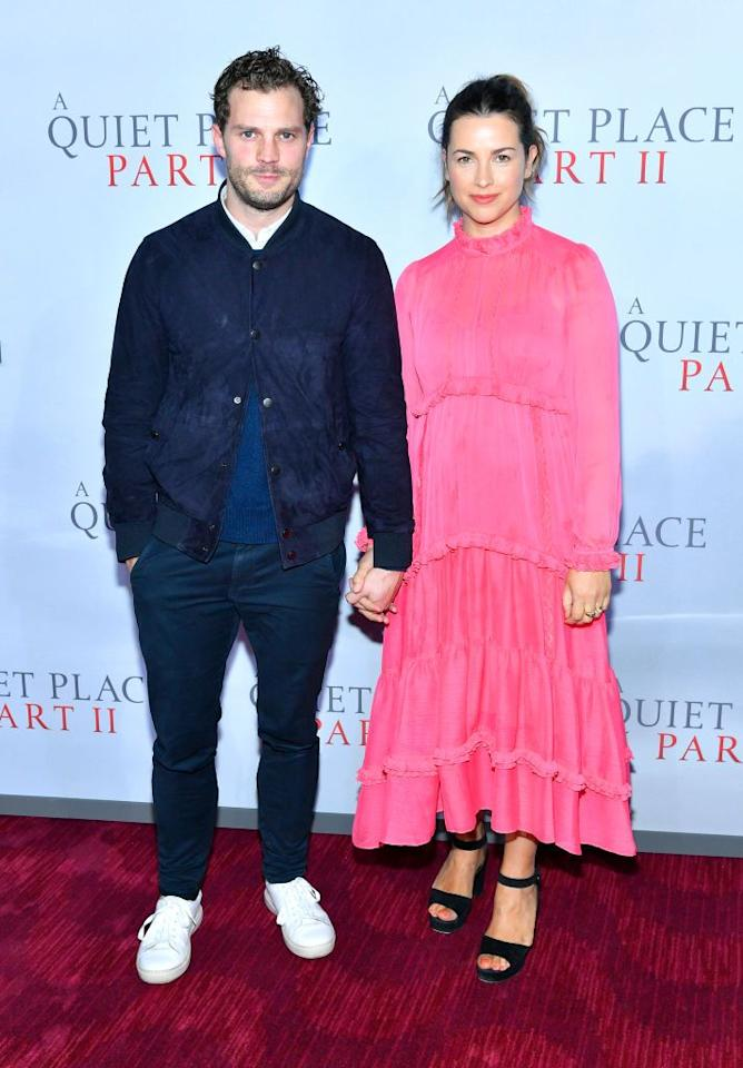 <p>The couple attended the A Quiet Place 2 Premiere.</p>