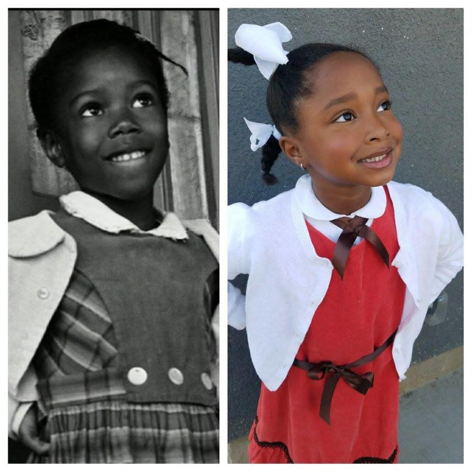 Another time, she recreated Ruby Bridges, the first African-American to desegregate a school the U.S. (Photos: The Brown family)