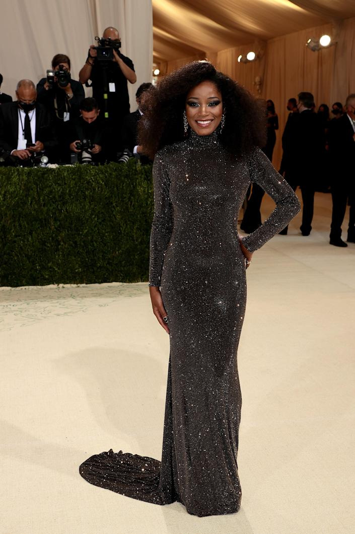 """<h2>Keke Palmer wearing Sergio Hudson<br></h2><br>Hosting the first Met Gala livestream at your first Met Gala requires one to dress the part — and Keke Palmer did just that (and more) in this high-neck-low-back gown. <span class=""""copyright"""">Photo by Dimitrios Kambouris/Getty Images for The Met Museum/Vogue.</span>"""