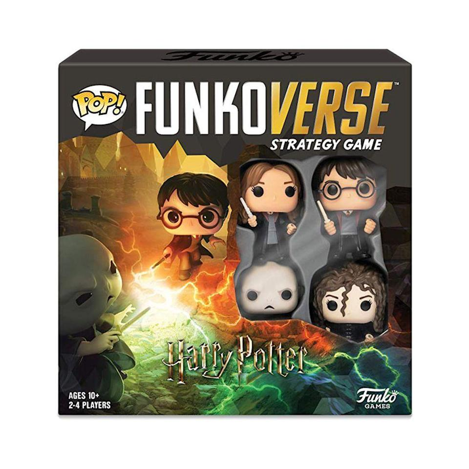 """<p><strong>Funko</strong></p><p>bestbuy.com</p><p><a href=""""https://go.redirectingat.com?id=74968X1596630&url=https%3A%2F%2Fwww.bestbuy.com%2Fsite%2Ffunko-pop-funkoverse-harry-potter-100-strategy-game%2F6367829.p%3FskuId%3D6367829&sref=https%3A%2F%2Fwww.bestproducts.com%2Fparenting%2Fkids%2Fg985%2Fbest-family-board-games%2F"""" rel=""""nofollow noopener"""" target=""""_blank"""" data-ylk=""""slk:Shop Now"""" class=""""link rapid-noclick-resp"""">Shop Now</a></p><p><strong><del>$39.99</del> $33.99 (15% off)</strong></p><p>Admit it, you always wanted to be in the <em>Harry Potter</em> universe and dreamed of sitting under the Sorting Hat to find out which house you belong to. </p><p>The Funko Pop! Funkoverse Strategy Game immerses you in the wondrous world of <em>Harry Potter</em>. Each player chooses their favorite <em>HP</em> character and, with the help of a little imagination, battles it out to gain points. </p>"""
