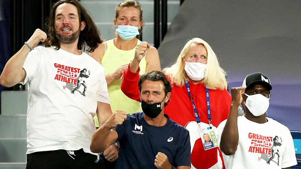 Alexis Ohanian, pictured here cheering on Serena Williams at the Australian Open.
