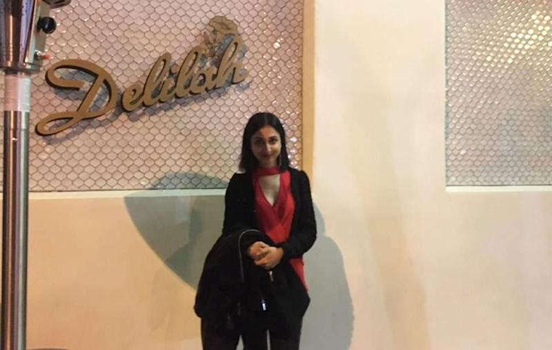 Be's Deputy Entertainment Editor Alicia just casually posing outside Delilah in West Hollywood. Source: Supplied