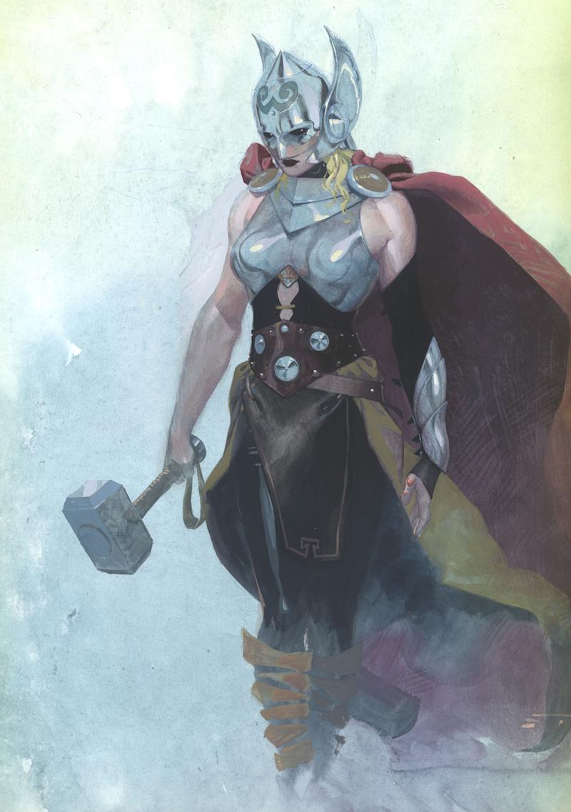 An image of the new female Thor provided by Marvel on July 15, 2014