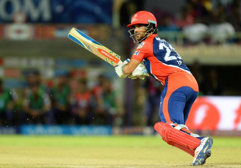 Delhi Daredevils batsman J-P Duminy plays a shot during the 2016 Indian Premier League (IPL) T20 match against Rising Pune Supergiants in Visakhapatnam on May 17, 2016